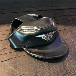 Harley-Davidson Faux Leather Pet Hat XS NWOT